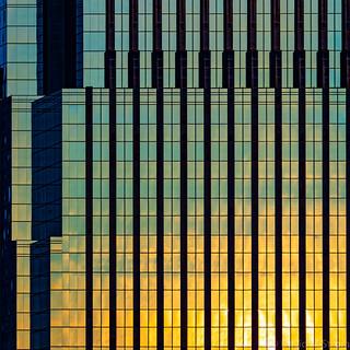 Minneapolis Geometry at Sunset