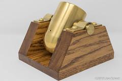 Brass 1-inch Bore Black Powder Dictator Mortar (joeeckert) Tags: 80d brooks brooksusa brookscannon blackpowder brass cannon dictator mortar oak skid wood