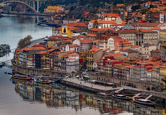 Porto cityscape (Leaning Ladder) Tags: porto portugal oporto city skyline cityscape river douro waterfront reflections leaningladder canon 7dmkii boats