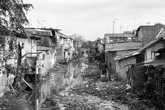 Behind the curtain (Jakarta) (frank.gronau) Tags: fluss müll waste indonesien jakarta white black weis schwarz 7 alpha sony gronau frank