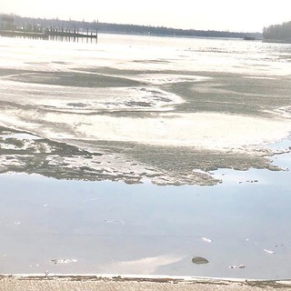 Eroding ice......finally! It is in the 70's for the first timer this spring. Feels fantastic! #finallyspring #lescheneaux #lescheneauxislands #springinlescheneaux