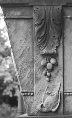 Detail on the Dobrev Family Vault (IanAWood) Tags: bringoutyourdead cemeteryclub churchofengland churchesandgraveyards cofe essexchurches londonsdead londonssuburbanchurches necropolis nikkorafs58mmf14g nikondf oldburialgrounds stmaryschurch stmaryschurchyard walkingwithmynikon walthamstow