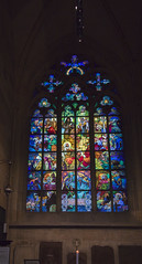 NH0A2403s (michael.soukup) Tags: prague prag praha czech czechia bohemia gothic architecture hradcany cathedral catholicchurch stvitus castle building apse nave stainedglass wenceslaus arcade rosewindow arch church aisle window mucha art sculpture