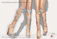{amiable}Lace-up Front Bow Sandals@main store(50%OFF SALE). (nodoka Vella) Tags: amiable {amiable} sl secondlife shoes sandals bow sale discount 50off mainstore nodoka nodokavella tmp belleza slink maitreya loki