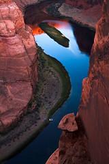 The Balancing Rock (Pritha Photography) Tags: nature horseshoebend page arizona landscape colorado river canyon blue red green water morning sunrise canon40mm canonusa