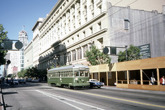 US CA San Francisco MUNI Kobe/Hiroshima 578J 6-18-1987 (David Pirmann) Tags: california sanfrancisco muni tram trolley streetcar transit railroad transportation