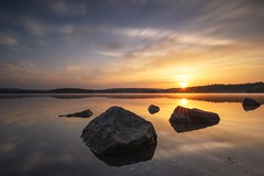 When the day begins (Melanie Martinu) Tags: sunrays morning outdoor haida sigma canon germany bavaria nature longexposure light sky clouds reflection water landscape lake sun sunrise