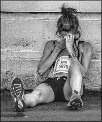 Man is Stone 10 (lightandform) Tags: strong endurance posers runners marathon street attitude rest stone masculin men people tense