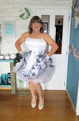 Frills (Trixy Deans) Tags: crossdresser cd cute crossdressing classic classy cocktaildress corset sexy sexytransvestite sexylegs sexyblonde shemales tgirl transgendered transsexual transvestite tgirls trixydeans