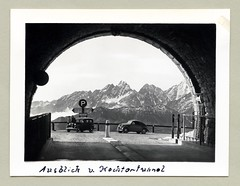 """Hochtor Tunnel (Vintage Cars & People) Tags: vintage classic black white """"blackwhite"""" sw photo foto photography automobile car cars motor vehicle antique auto 1930s thirties alps alpi alpen grosglockner hochalpenstrase grosglocknerhochalpenstrase heiligenblut bmw bmw315 steyr steyr50"""