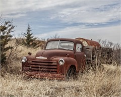 Chevy (A Anderson Photography, over 2.4 million views) Tags: truck abandoned canon clouds chevy