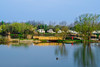 Serenity (Vaas.V) Tags: lake sky clouds ocean sea burnhamonsea pentaxks2 pkmount da18135mm da 18135mm f3556 ed al if dc wr ducks green spring morning caravan