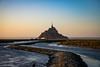 Golden Hour at Le Mont-Saint-Michel (Seval Aydoğan) Tags: beauvoir normandie frankreich fr