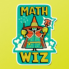 Math Wiz (kolbisneat) Tags: math science sticker limitedpalette illustration kolbisneat andrewkolb