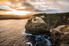 12 Apostles - Sun Break (GlennDeveron20) Tags: 12 twelve apostles sea ocean water sunset shore rock formation waves seaside cliff stone australia great road national park