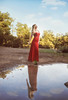 Portraits of Sylvia S. in a red dress, by SpirosK photography (SpirosK photography) Tags: sylvias red dress reddress spiroskphotography nature forest lake lamia greece ελλάδα λαμία fashion photoshoot portrait sylvia outdoors glamour reflection water
