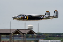 Miss Hap low level pass (tspottr723) Tags: b25 b25j miss hap howard hughes low level pass airshow warbird ww2 bomber usaf us air force mcguire lakehurst nj new jersey north american 2018 open house nikon d500 tamron 150600 military aviation mitchell mdl