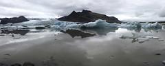 Fjallabak lake. Iceland (ibethmuttis) Tags: water lake snow ice iceland fjallabak mountain glacier reflects cloudy landscape