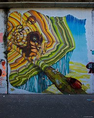 IMGP9791  The snail (Claudio e Lucia Images around the world) Tags: murales graffiti streetart milano vialemonza ferrovia via pontano milanese pentax pentaxk3ii sigma sigma1020 pittura face faccia murale art viapadova padova persone muro
