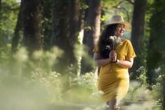 Dreamy... (Bram de Jong) Tags: portrait landscape summer flowers tree sunset smile woman bannink deventer overijssel mood beautifullight beauty nikond500 outdoor