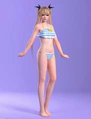 render_dead_or_alive_marie_rose_01_bikini_reworked2_by_sliderdigitalfx (SliderDigitalFX) Tags: marierose deadoralive lastround doa doa5 hot summer bikini swimsuit outfit ponytails xnalara xps photoshop blender render painting 3d petite cute kawaii sexy teen girl tecmo koei teamninja game model female standing casual barefoot pose digitalart fanart