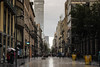 Calle Francisco I. Madero - Mexico city (Liliancopito (Kuroimo)) Tags: mexico sky caballito reforma centro francisco i madero rain cloudy architecture mexican landscape reflections lights cluds people