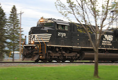 Pony Foliage (view2share) Tags: ns2729 516 l516 cn516 cnl516 may82018 may2018 may 2018 deansauvola minneapolissub wi wisconsin newrichmond norfolksouthern ns electromotivedivision emd sd70m2 evening cn canadiannational railway railroading rr railroads rail railroad rails railroaders rring freight freighttrain track transportation trains tracks transport train trackage trees spring springtime stcroixcounty