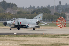 57-8356 McDonnell Douglas RF-4E Phantom Japan Self Defence force Hyakuri air base RJAH 03.04-18 (rjonsen) Tags: plane airplane aircraft aviation airside airport fighter jet military