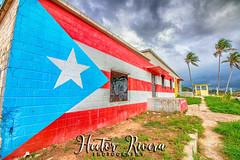 Aguadilla, Puerto Rico Flag Paint (Hector A Rivera Valentin) Tags: aguadilla puerto rico flag paint beach playa ruinas pintura hdr palmas landcape oldstructure mardarksky