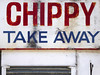 CHIPPY (steve marland) Tags: typography type text sign signwriting signage stockport uk england shop shopfront chippy chipshop words popart