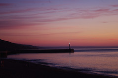 D14149.  Aberystwyth. (Ron Fisher) Tags: cymru wales europe evening aberystwyth ceredigion baeceredigion cardiganbay sunset water sea ocean pentax pentaxkx gb greatbritain uk unitedkingdom