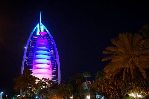 The world-famous Burj Al Arab hotel