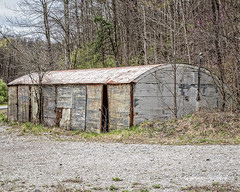 Tin Hut (augphoto) Tags: augphotoimagery abandoned building decay exterior metal old weathered jenkins kentucky unitedstates