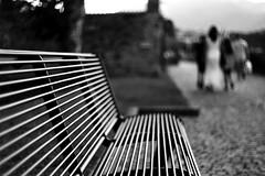 Time for a break (Leica M6) (stefankamert) Tags: stefankamert street people blur blurry noir noiretblanc film analog grain leica m6 leicam6 summitar ilford fp4 dof bokeh blackandwhite blackwhite