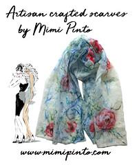 mimi pinto scarf (MimiPintoArt) Tags: scarf merino scarves felting gift ideas bespoke custom personalised roses flowers floral handmade