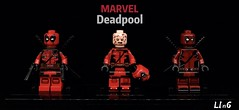 Deadpool (L1n6zz) Tags: figfactory phoenixcustoms hobbybrick wadewilson marvel lego deadpool