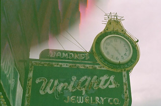 Abandoned jewelry store downtown (light experimentation with kaleidoscope lens /  expired film)