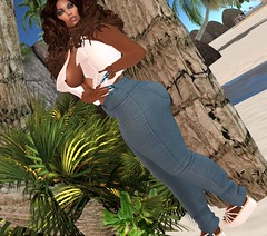 Those jeans (Sultry ALLURE) Tags: chantelsatine catwa lelutka lsr littlebones sultryallure secondlife sl style sponsor avatar alluring angel blog blogger bento maitreya moda mesh makeup nails natural hair