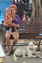 mother, son, dog (the foreign photographer - ฝรั่งถ่) Tags: mother son dog bench khlong thanon portraits bangkhen bangkok thailand nikon d3200
