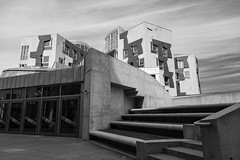 Scottish Parliament Tour May 2018 (80 of 119) (Philip Gillespie) Tags: scottishparliament visitscotparl scotland parliament edinburgh canon 5dsr architecture windows lights tour seats flags dog pets water interior design hills arthurs seat city sky sun art sculpture mono monochrome colour color black white blue green red yellow orange stairs boat style curves lines chamber epmg photography meetup group people men women boys girls kids chambers meetings summer grass trees