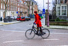 Little Red Riding Hood (108/365) (Walimai.photo) Tags: bike bici bicicleta bicycle amsterdam robado candid portrait retrato rojo red panasonic lx5 lumix street calle color colour