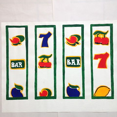 'Fruit machines' (Madison Kilminster) Tags: art painting drawing fruit machine arcade amusment fun happy colourful textile print designer graduate