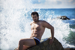 Barcelona Beach (tim_asato) Tags: timasato ivansanchez timoteo timoteostudios marytorres gleichlaut gleichlautmag gay gaymagazine wet ocean oceano mar sea hunk trunk jock stud hot sex sexy pecs abs bulge pit heary peludo legs piernas bicep muscle bear oso musclebear guy model modelo masculino masculine rock roca underwear ropainterior shirtless sincamiseta guapo handsome beard beardedmen barba scruff trail fit spanish boy catalan
