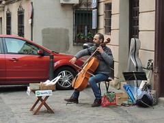 Bach in Toledo (Anita363) Tags: cellist musician people cello street streetmusician busker busking toledo spain españa