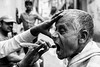 Shaving Procedure-DSC_2398 (thomschphotography3) Tags: asia india kolkata portrait streetphotography monochrome man shave shaving