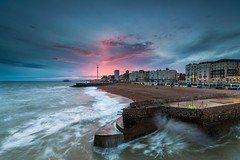 Brighton Sunset (E_W_Photo) Tags: brighton sussex seafront palacepier pier westpier sunset pink beach groyne canon 80d sigma 1020mm leefilters