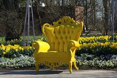 A Sunlit Chair (Patrick Johnston) Tags: wheatonillinois canonrebel canonrebelt6 canonphotography cantignypark park cantigny