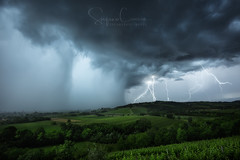ELECTRICAL HAZARD (Stephen Hunt61) Tags: countryside clouds rain lightinings hills landscape landscapes storm wind thunderbolts wet paesaggio campagna vigna uva pioggia tempesta outdoor stefanocaccia