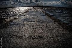 2018_ISLE_OF_SHEPPEY (_NiKiri_) Tags: sea path road water sun light sky clouds isleofsheppey kent reflection bright jetty river