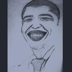 #hello #all.. The  #sketch_ Barack Obama.. ✨ (laxmideep) Tags: all sketch hello